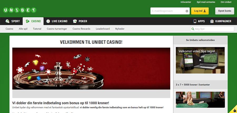 Unibet-Casino_velkomstbonus