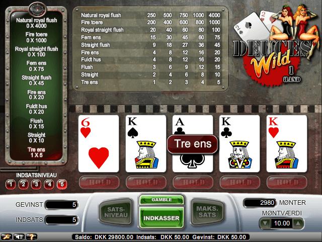 Sådan ser det ud, når du spiller Wild Deuces.