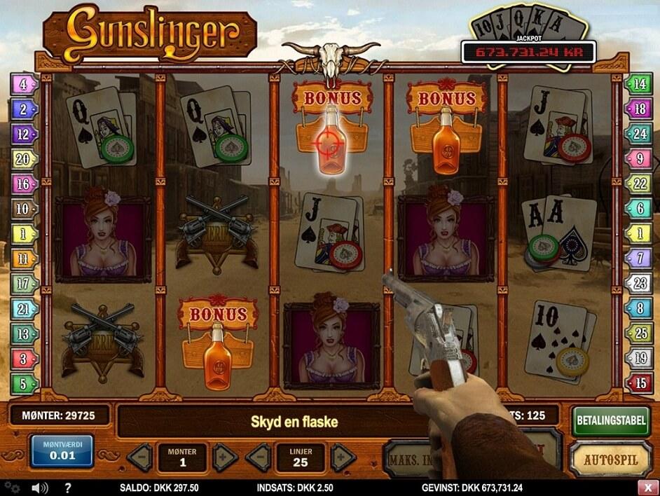 Gunslinger online spilleautomat - spil online gratis i dag