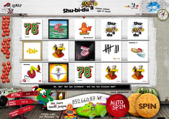 Shubidua spilleautomat