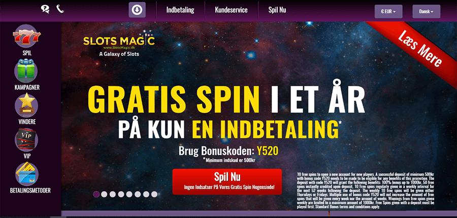 SlotsMagic - velkomstbonus