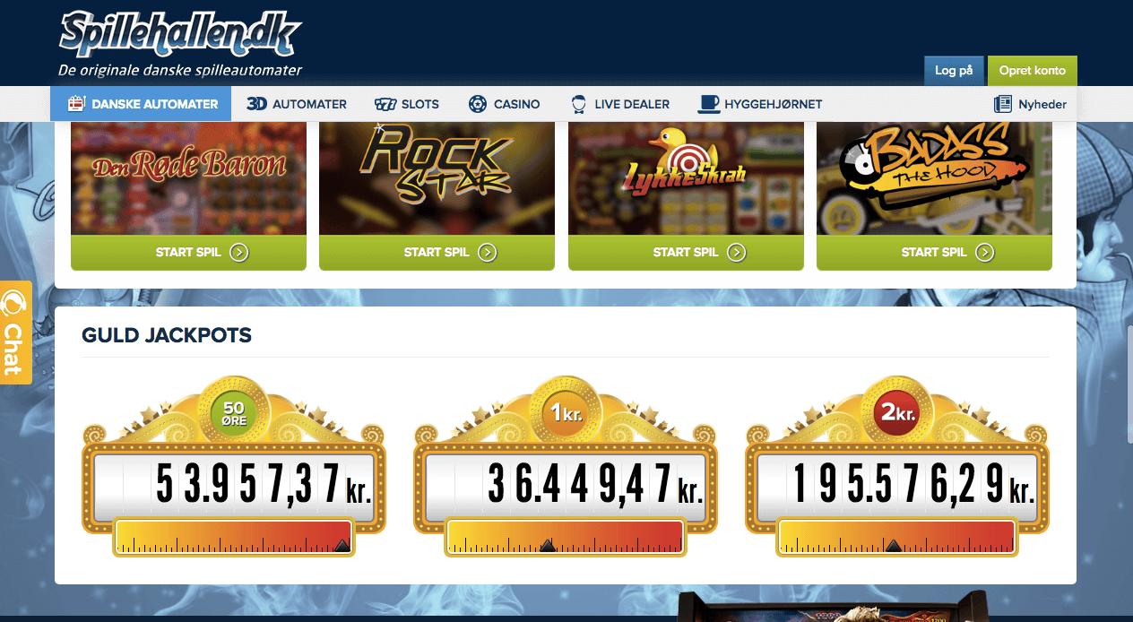 Spillehallen jackpots