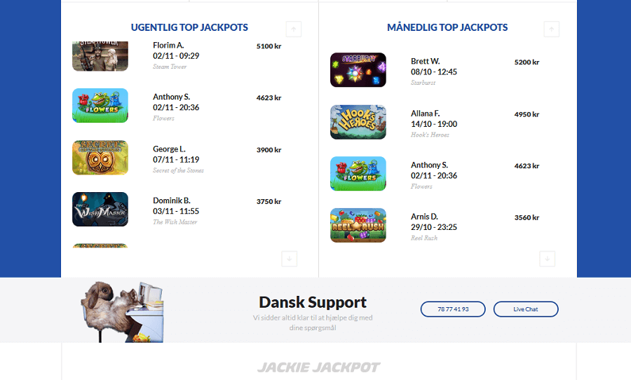 Jackie jackpot anmeldelse