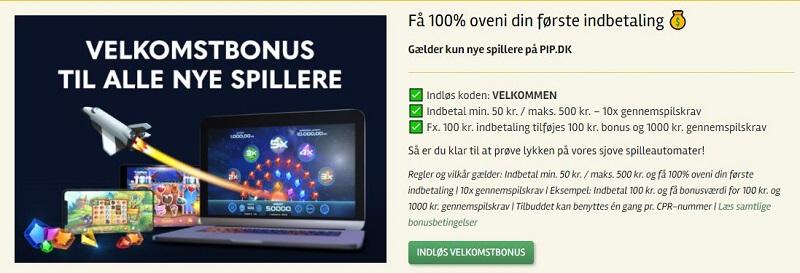 Pip.dk bonus