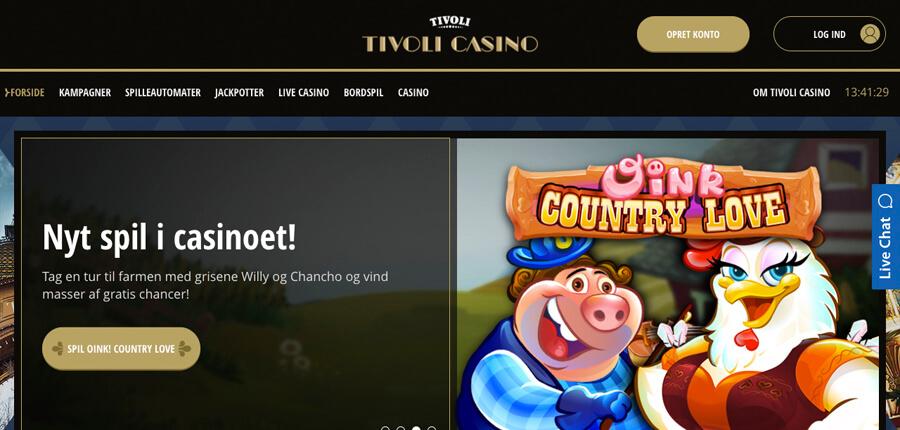 tivoli casino bonuskode 2017