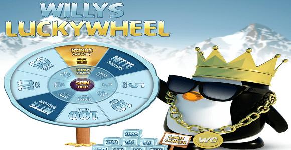 lucky wheel willycasino