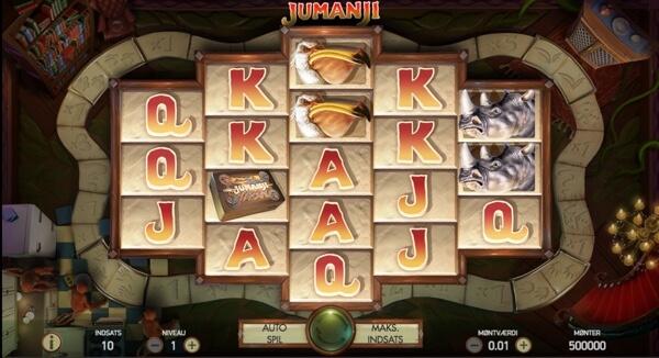prøv jumanji spilleautomaten fra netent