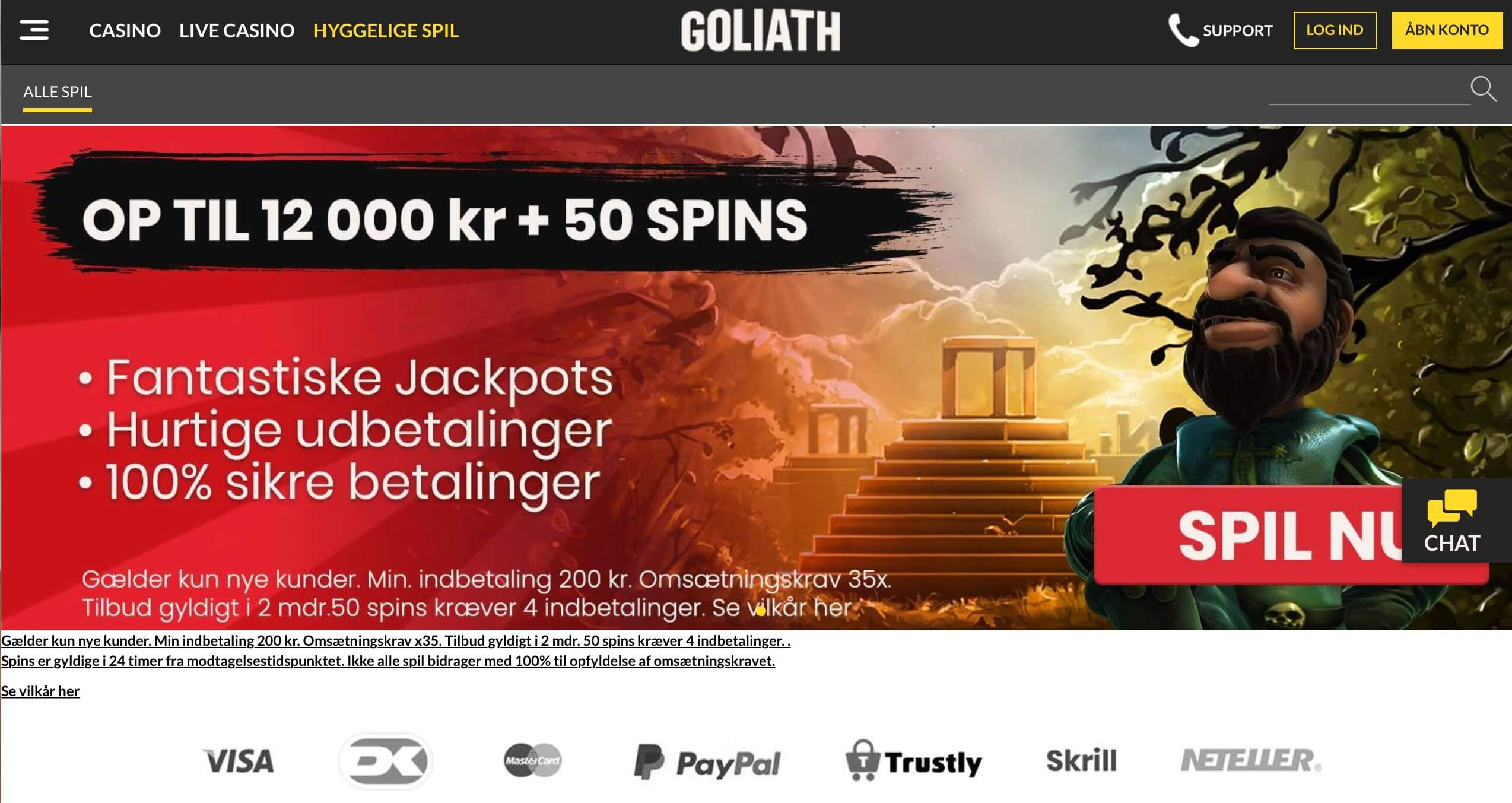 Goliath casino bonuskode