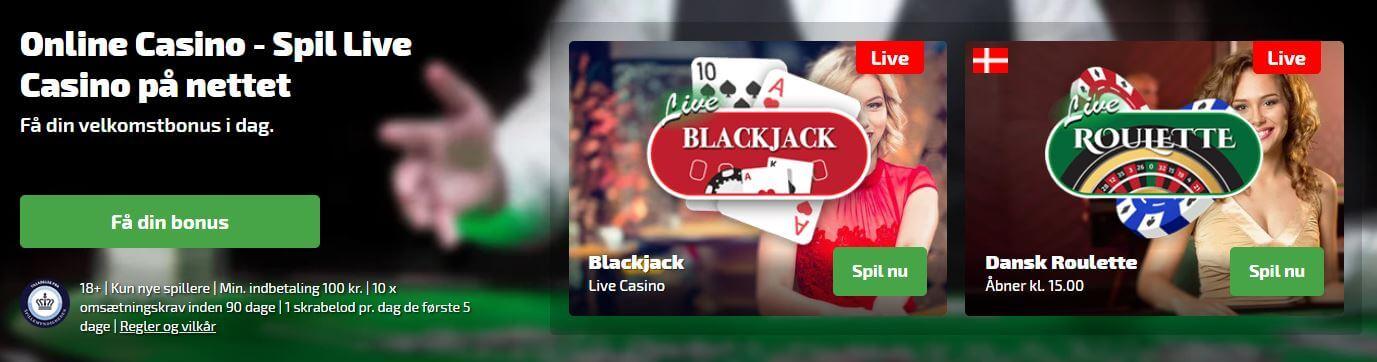 Spilnu live casino