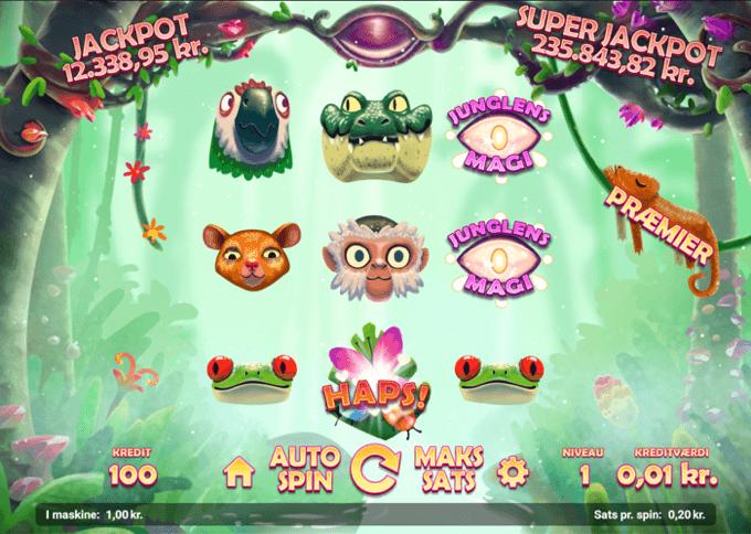 den magiske jungle spilleautomat