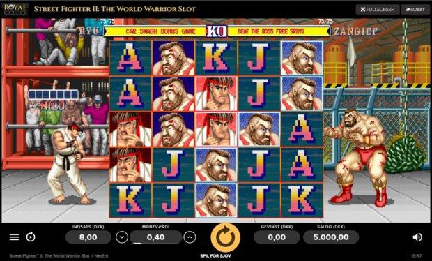 Street fighter spilleautomat