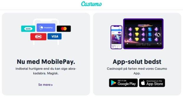 Casumo mobilepay casino