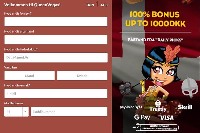 Queen Vegas Login Og