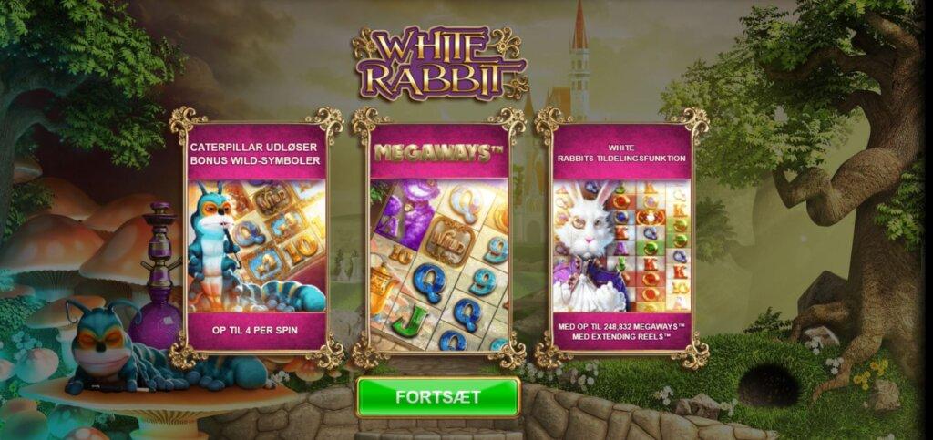White rabbit spilleautomat
